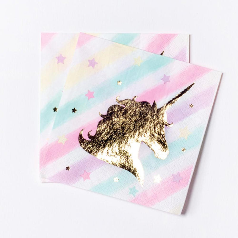 Unicorn Sparkle Paper Beverage Napkins (x12)