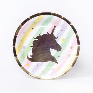 Unicorn Sparkle Small Paper Party Plates (x8)