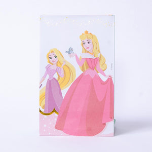 A Disney Princess-themed party gift bag