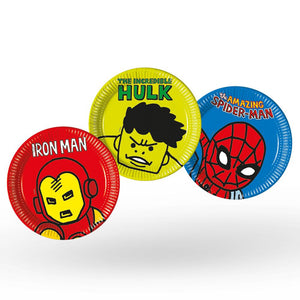 Marvel Avengers Pop Comic Paper Party Plates (x8)