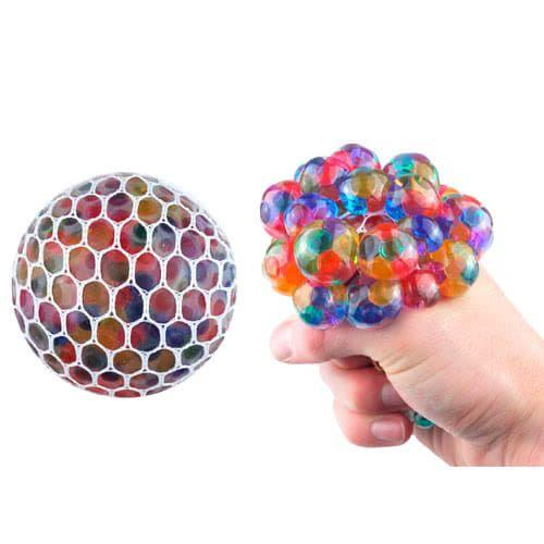 Rainbow Squishy Mesh Ball