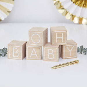 Baby Blocks Guest Book (x6)