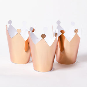 Rose Gold Party Crowns (x5)