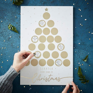 Personalised Advent Calendar With Gold Scratch Stickers