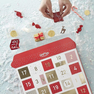 Gold-Foiled Fill Your Own Advent Calendar