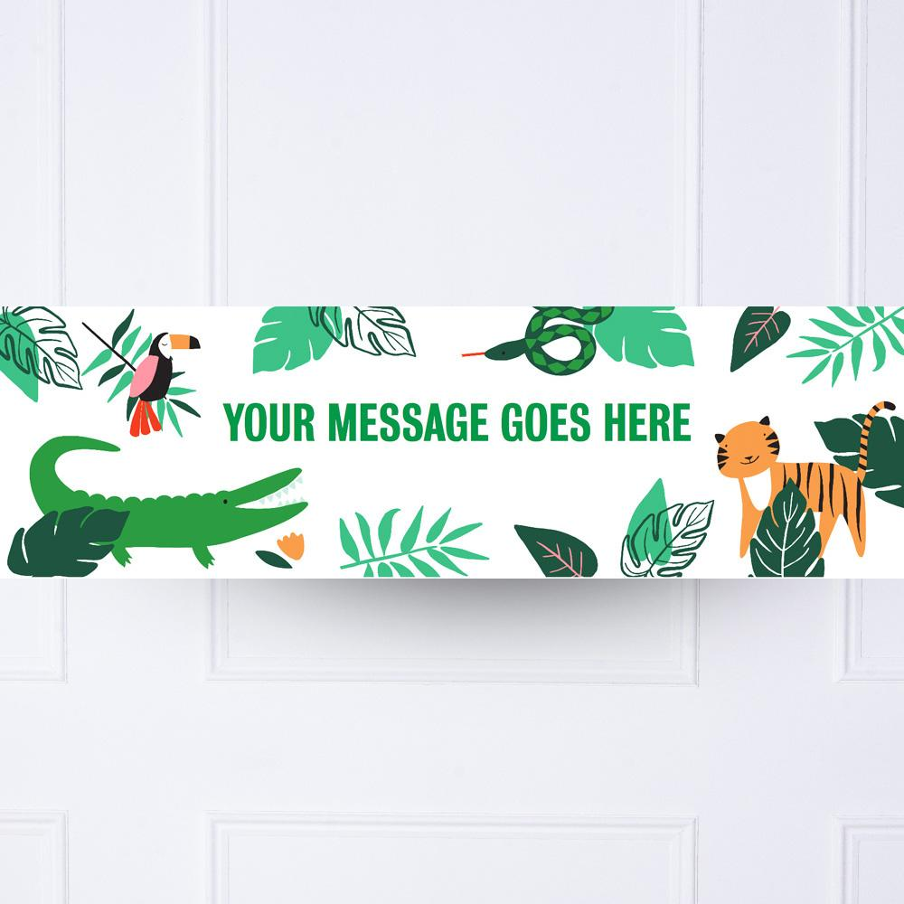 Go Wild Jungle Personalised Party Banner