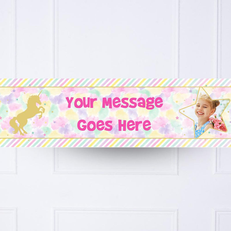 Unicorn Sparkle Personalised Party Banner