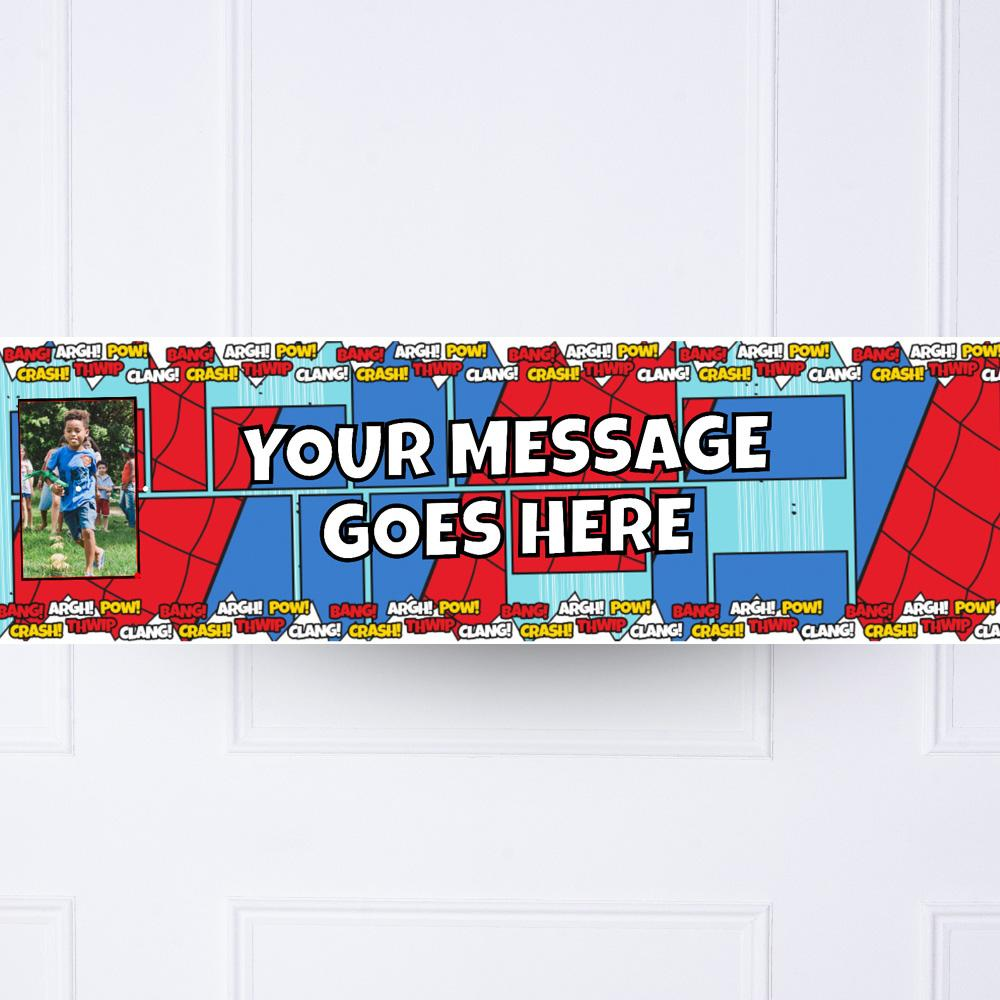 Comic Book Personalised Party Banner