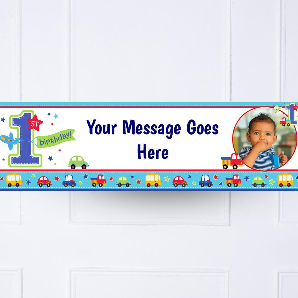 All Aboard Personalised Party Banner