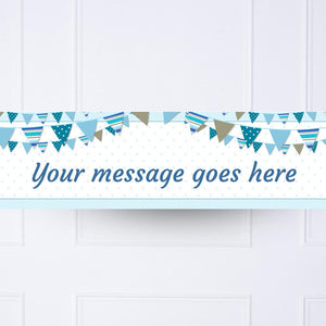 Blue Bunting Personalised Party Banner
