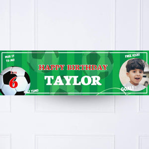 Football Mania Personalised Birthday Banner