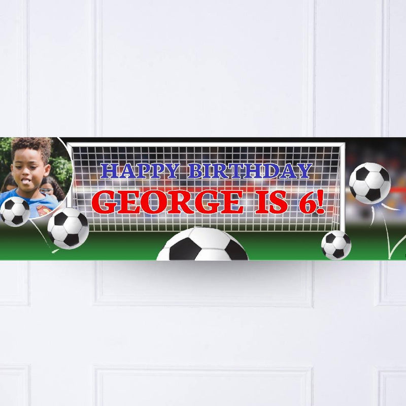 Football Goal Personalised Party Banner
