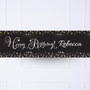 Kids Gold Celebration Personalised Party Banner