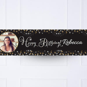 Gold Celebration Personalised Party Banner