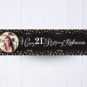 Gold Celebration 21st Personalised Party Banner