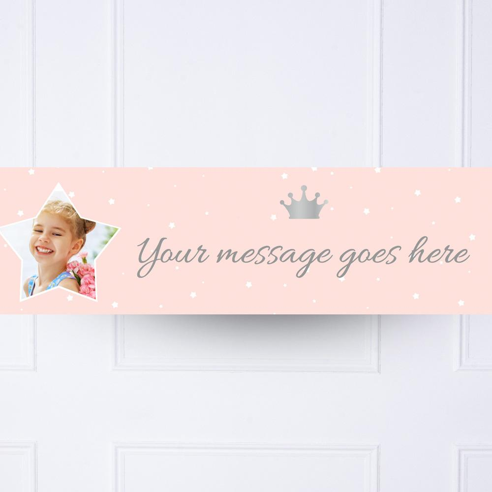 Its A Girl Any Name Banner  set of 3 Personalised new baby banner Make your own