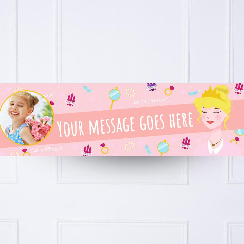 Princess Tiara Personalised Party Banner
