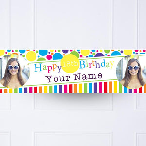 Bright and Bold Personalised Party Banner