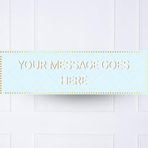 Blue Pastel Perfection Personalised Party Banner