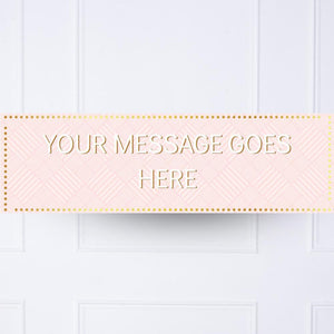 Pink Pastel Perfection Personalised Party Banner
