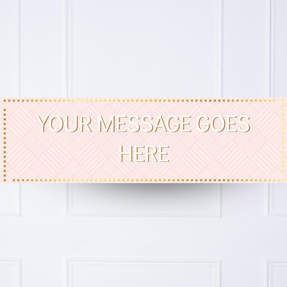 Kids Pink Pastel Perfection Personalised Party Banner