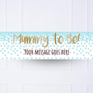 Blue Confetti Personalised Party Banner