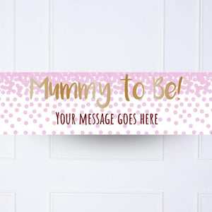 Pink Confetti Personalised Party Banner