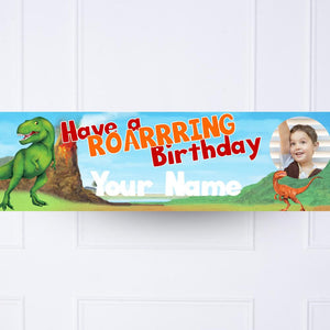Dinosaur Roar Personalised Party Banner