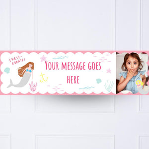 Let's Be Mermaids Personalised Party Banner