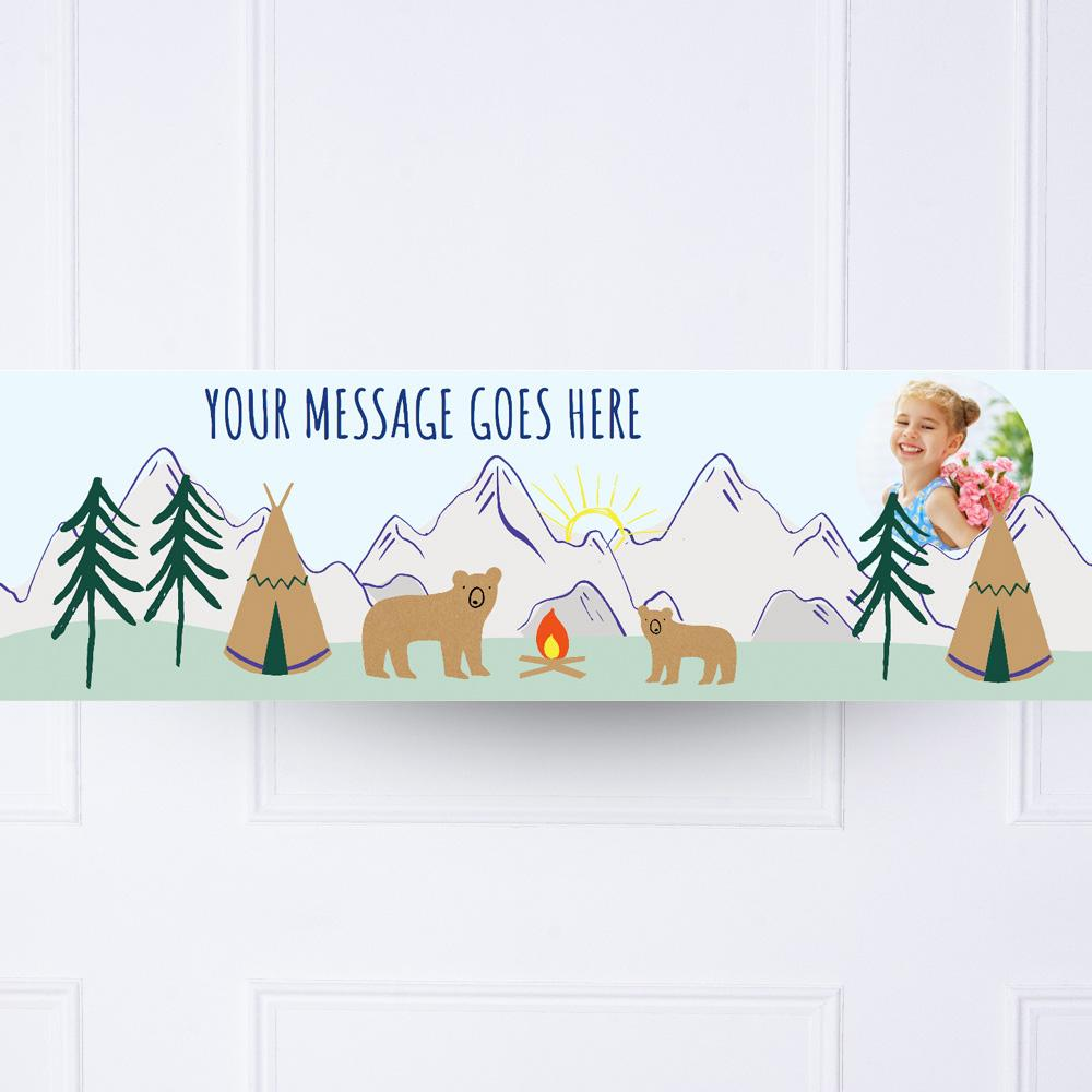 Lets Explore Personalised Party Banner