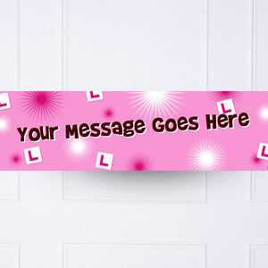 L Plates Hen Party Personalised Party Banner