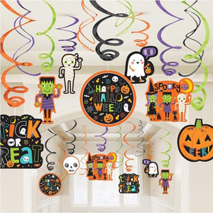 Halloween Value Swirl Ceiling Decorations (x30)