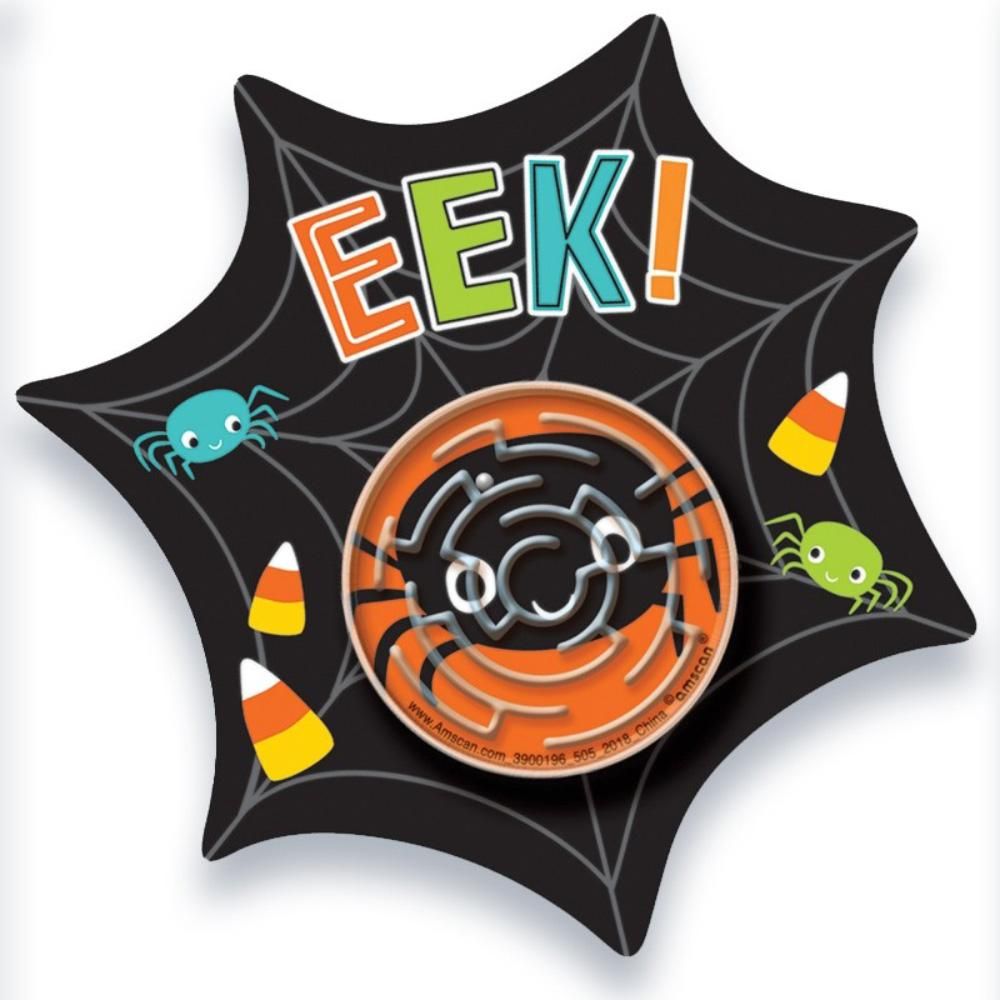 Halloween Web Cards with Maze Puzzles (x12)