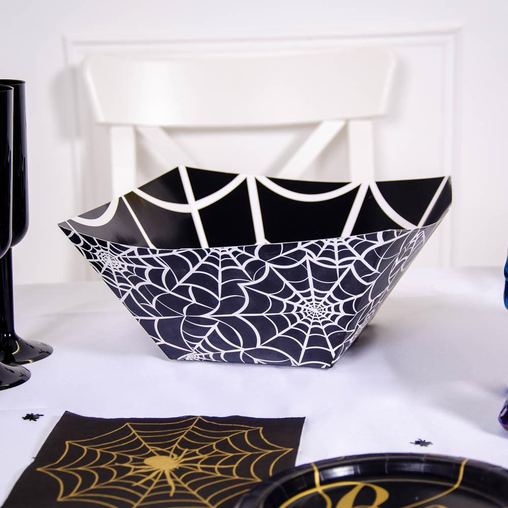 Halloween Plastic Spider Web Bowl