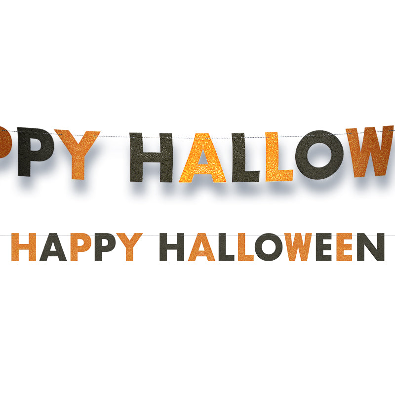 Happy Halloween Party Letter Banner