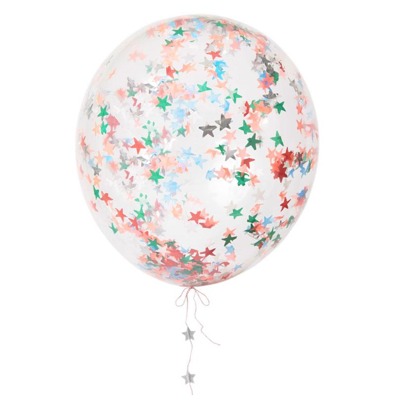 Festive Star Confetti Balloon Kit (x8)