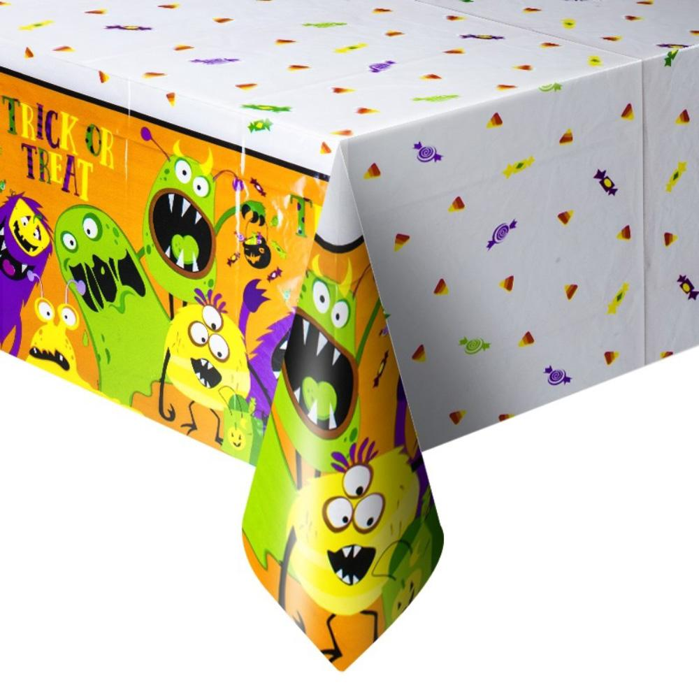 Silly Halloween Monster Plastic Party Table Cover