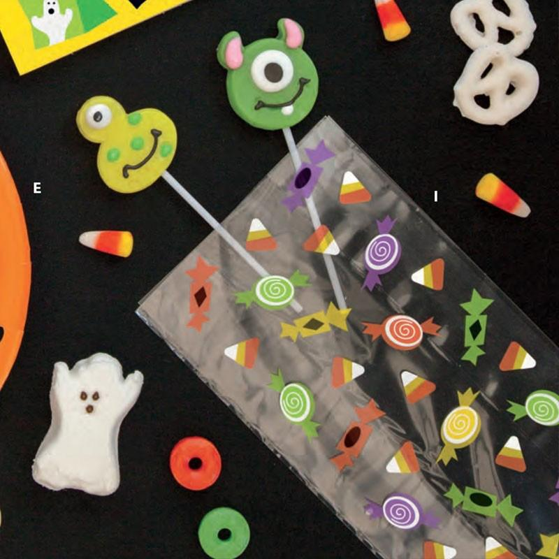 Silly Halloween Monsters Cello bags (x20)