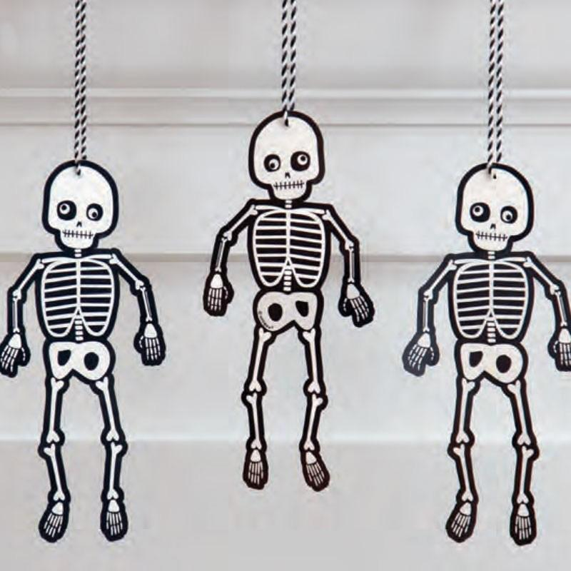 Hanging Skeleton Decorations (x3)