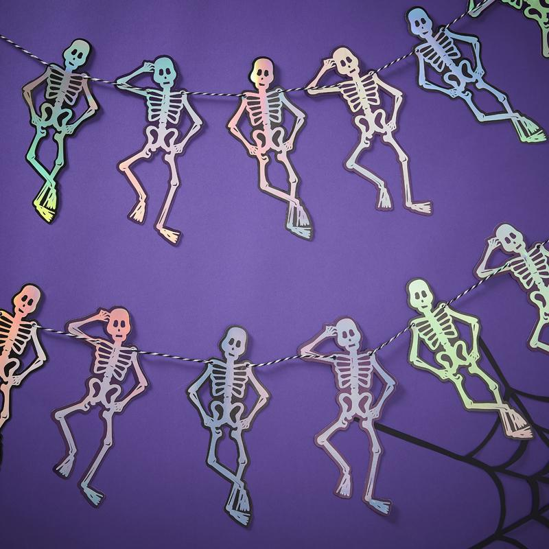 Iridescent Skeleton Bunting (1.5m)