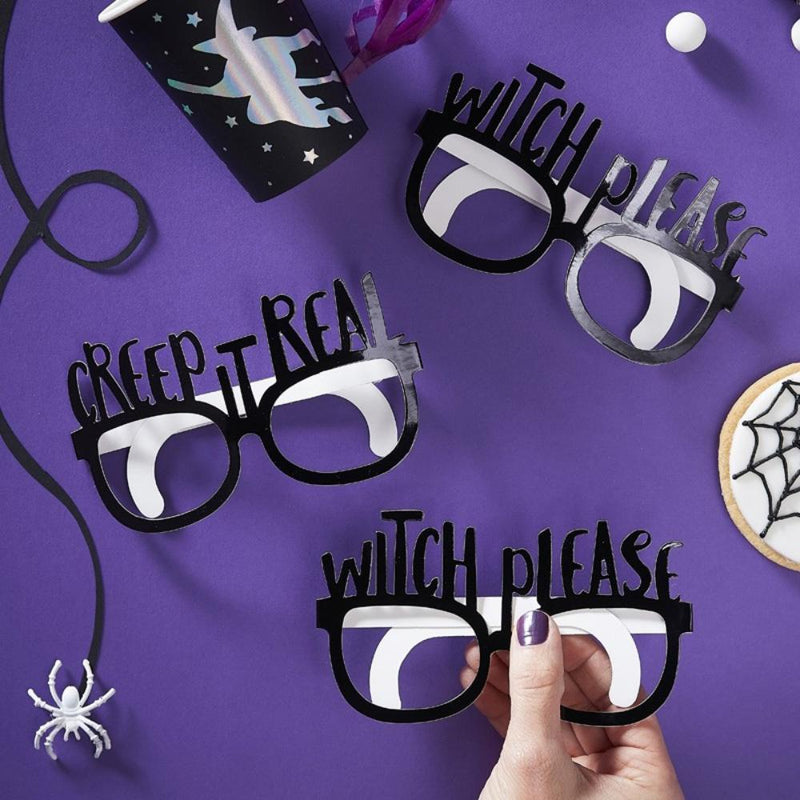 Creep It Real Halloween Fun Glasses (x8)