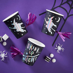 Creep it Real Foiled Paper Cups With Tassle (x8)