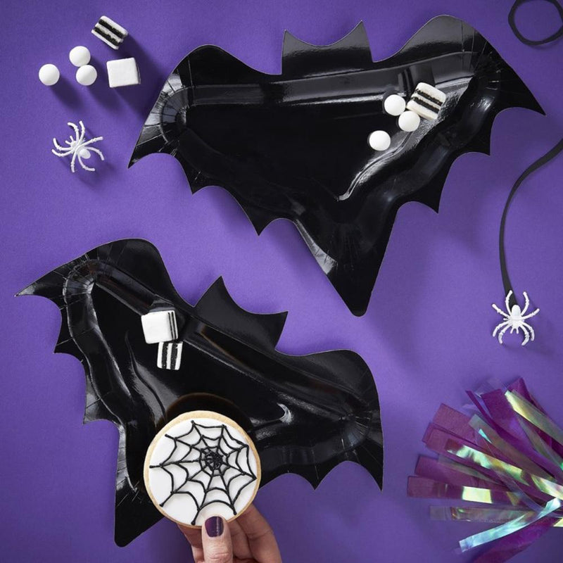 Creep it Real Bat Shaped Paper Plates (x6)