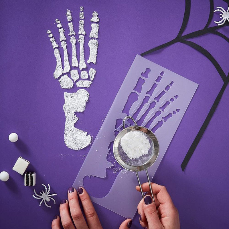 Halloween Skeleton Feet Stencils (x2)