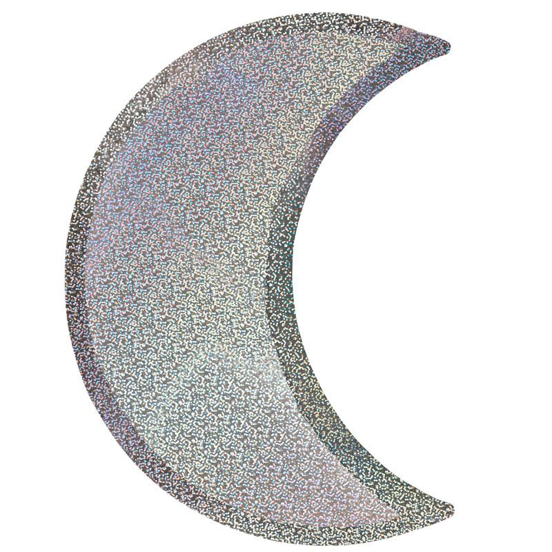 Silver Moon Paper Party Plates (x8)
