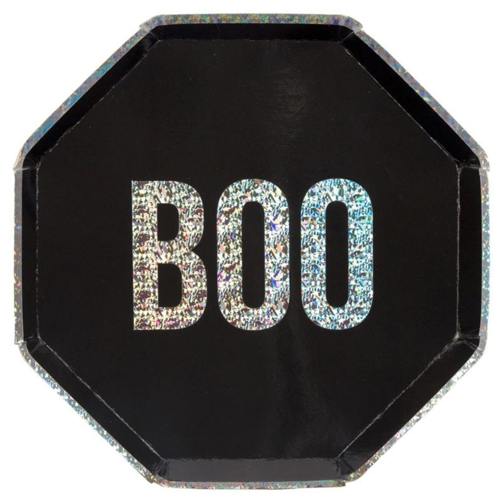 BOO Paper Party Plates (x8)