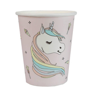 Rainbow Unicorn Party Paper Cups (x10)