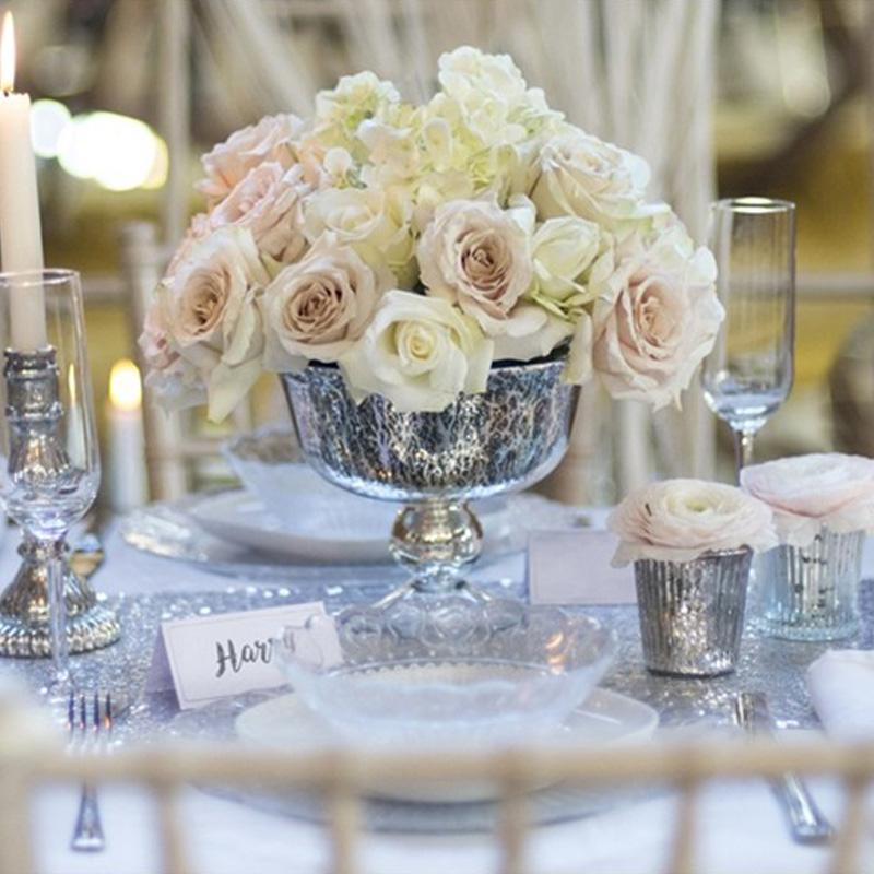 Silver Party Table Decorations Kit