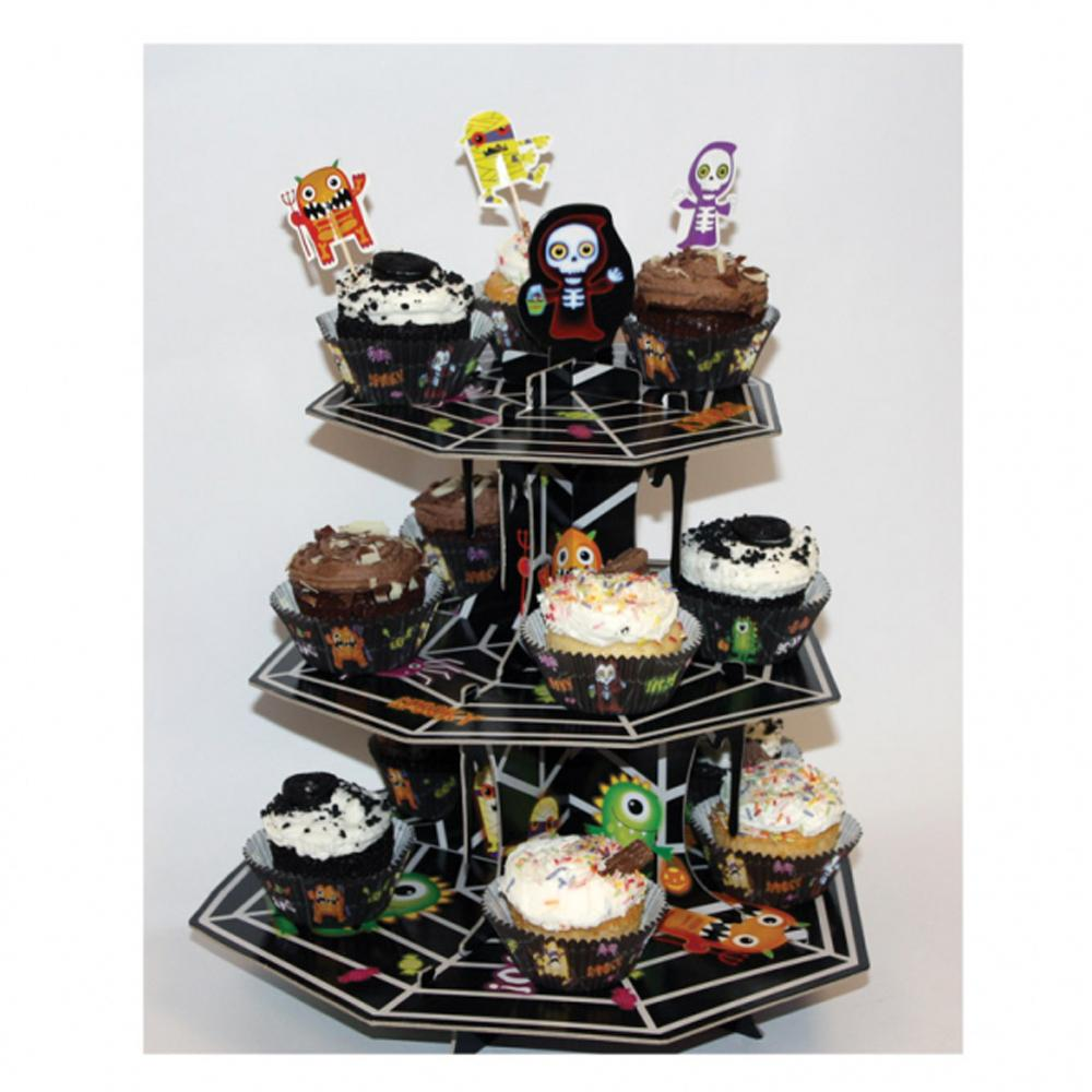Halloween Monsters Cake Stand