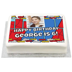 Personalised Photo Cake - Comic Book